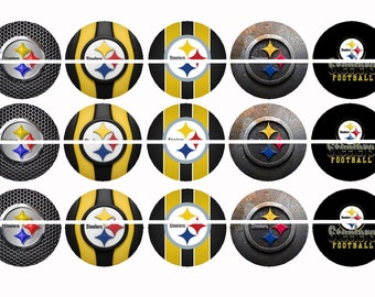 PITTSBURGE STEELERS FOUR 4 x 6 Images Bottle Cap Images Instant Download Digital Printable Images Instant Download Bottlecap 1 Inch Circle