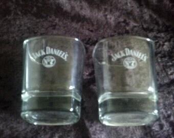 Jack Daniels Old No7 Bourbon Glasses