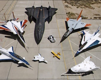 24x36 Poster . Nasa F-15 Active, Sr-71, F-106, F-16Xl #2, X-38, Mothership X-36
