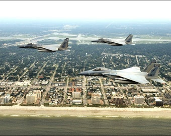 24x36 Poster . F-15C Eagle F-15 Fighters Florida Air National Guard Jacksonville