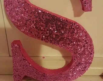 Glitter letters, wooden, party, decor, hanging, standing