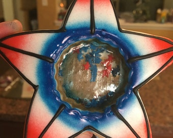 Fourth of july star glass cookies