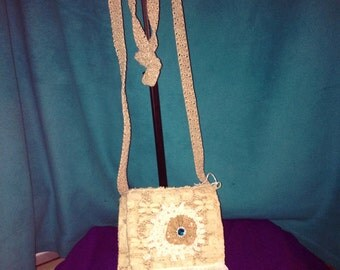 Shabby taupe purse