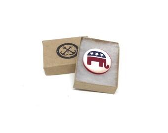 Republican Lapel Pin, Elephant Lapel Pin, GOP Lapel Pin, Magnetic Lapel Pin, Republican Brooch, USA Lapel Pin, Republican Political Party
