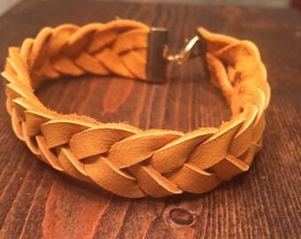 5 Strand Braid Leather Bracelet