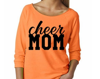 Cheer Mom Shirt // Cheerleading Mom Shirt // Cheerleading Wide Neck Shirt // Mom of a Cheerleader // Cheerleading Gift // Cheer Gift