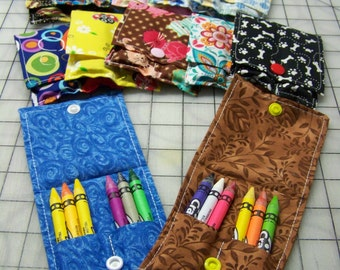 12 Crayon Rolls with 6 Crayons Each