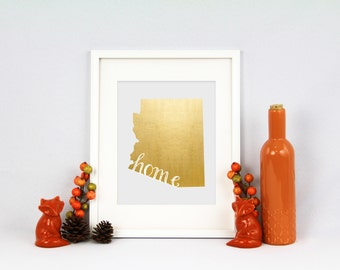 Arizona Home State Collection Foil Pressed Print