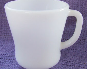 Fire King Milk Glass Vintage Retro White Milk Glass Mug