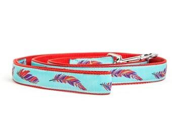 Aztec Dog Leash. Feather Dog Leash. Blue Dog Leash. Matching Dog Leash Personalized Dog Leash. Flower Dog Leash. SAMOA LEASH.