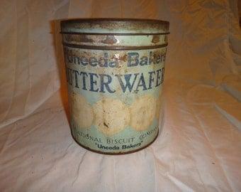 Vintage Wafer Tin