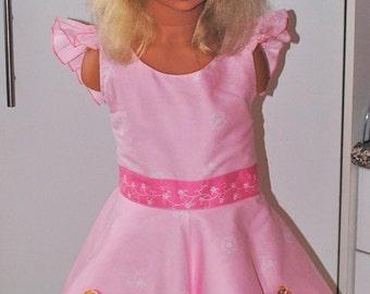Girls Princess Rose Spinning Party Dress