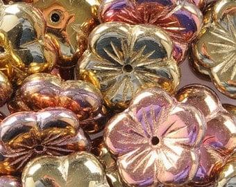Czech Flower Beads - Crystal California Pink GBFL-215 10/20/30 Pcs