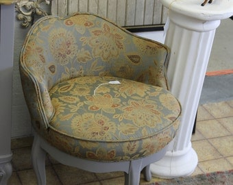 Sold!!!  1950s Hollywood Regency style Swivel Chair