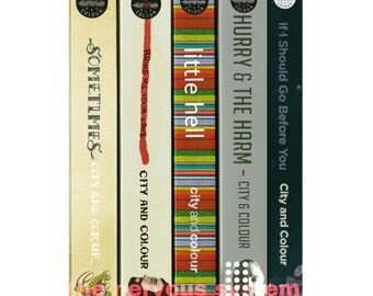 City and Colour albums as a series of books (POSTER PRINT)