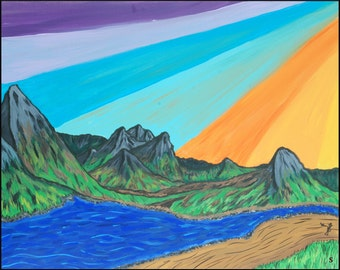"""Sunsetting Painting -'Print'- using 12""""x18"""" CF1 Paper Size"""