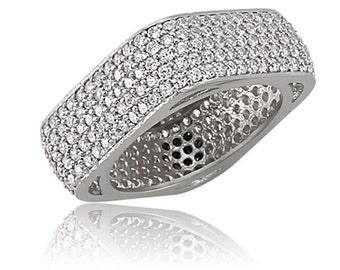 5 line paved square ring