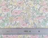 "CUSTOM Listing Liberty London Poppy and Daisy B 10""x26"" Fat Eighth Pastel Pink Yellow Lawn Fabric"