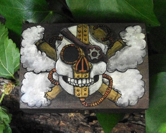 Caja Jolly Roger Steampunk