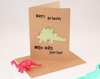 Happy birthday you old dinosaur - greeting card