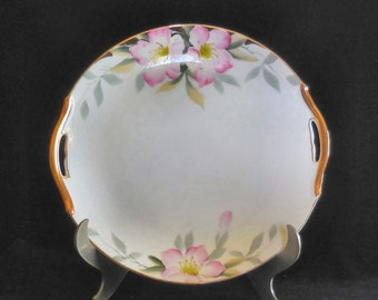 Noritake Handled Cake Plate in the Azalea Pattern