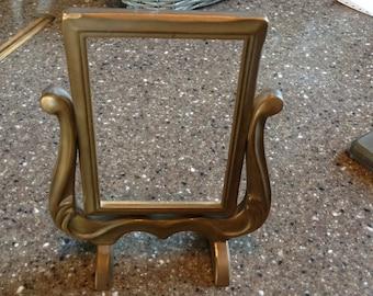 Antique Art Deco Carved Wood Swivel Frame