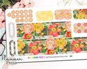 Flora Dream Washi & Icons Planner Sticker for Erin Condren Life Planner (ECLP) Reminder Sticker 1996