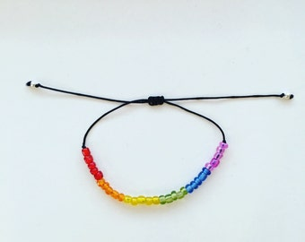 Love and friendship rainbow bracelet