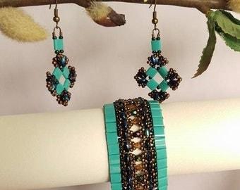 Egyptian Bracelet and Earrings