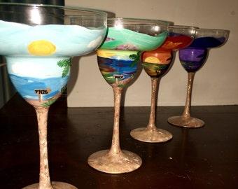 Beach Margarita Glass Set