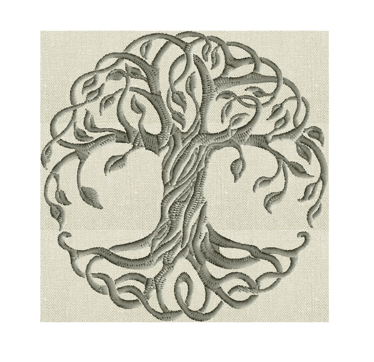 tree of life embroidery design -font not included- embroidery design file - instant download