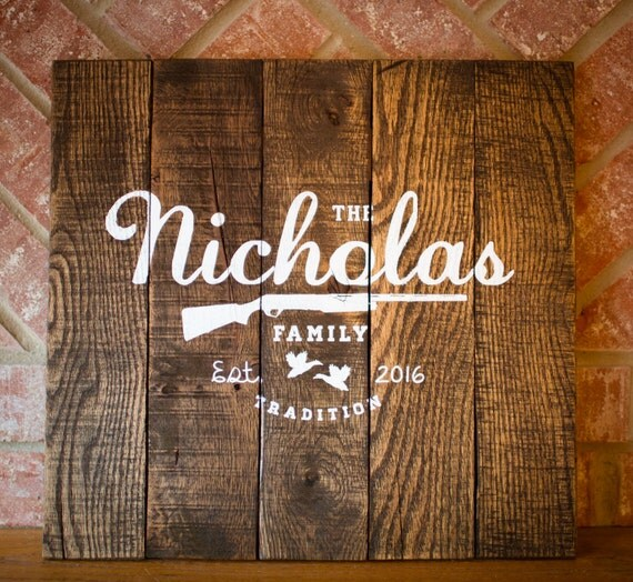 Established Family Home Decor Wood Sign Reclaimed Rustic