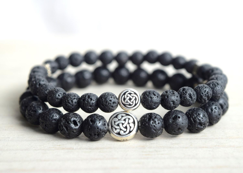 couples celtic knot bracelet lava beads bracelet spiritual. Black Bedroom Furniture Sets. Home Design Ideas