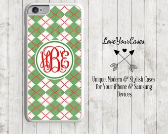 iPhone 6s Case, iPhone 6 Case, iPhone 6 Plus Case, iPhone 5 Case, iPhone 5c Case, Personalized iPhone, Christmas Knit, Christmas Phone, 188