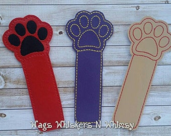 Vinyl Paw Print  Bookmark -- all proceeds to animal charities!