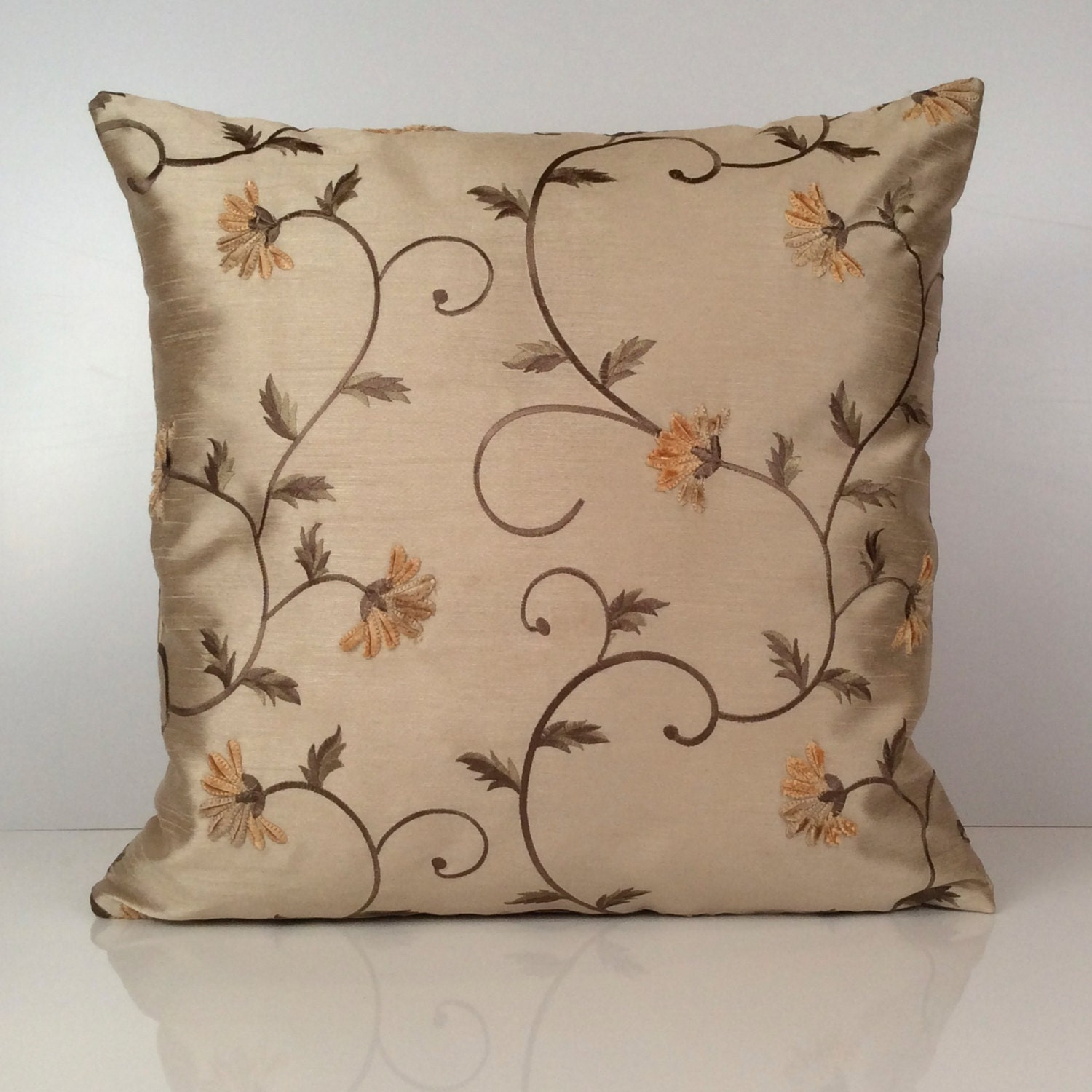 Light tan ivory beige pillow decorative throw pillow cover - Decorative throw pillows ...