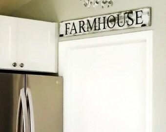 Farmhouse|Wood Sign|Black