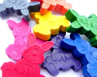 Easter Bunny Crayons x6 | Rabbit Crayons | Easter Gift | Woodland party favours | Rabbit | Easter Egg Hunt | Novelty Crayons | Birthday Gift