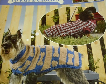 Dog Sweaters to Knit & Crochet, Ten Designs, Instruction Booklet