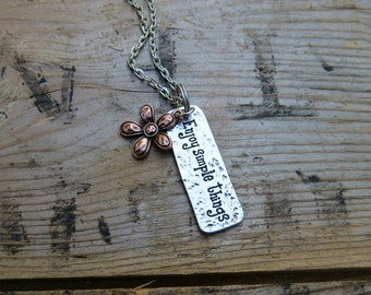 Enjoy Simple Things Flower Necklace