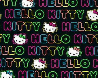 Quilting Fabric Kitty Cat Print  - Fat Quarter