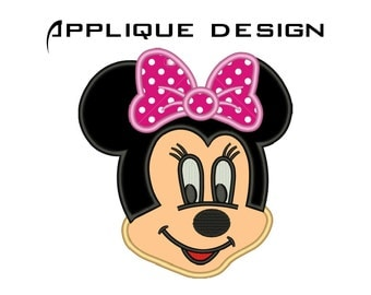 Minnie Mouse Embroidery Design Minnie Mouse Face Embroidery Minnie Face Applique Design Minnie Mouse Face Applique Machine Embroidery No:66