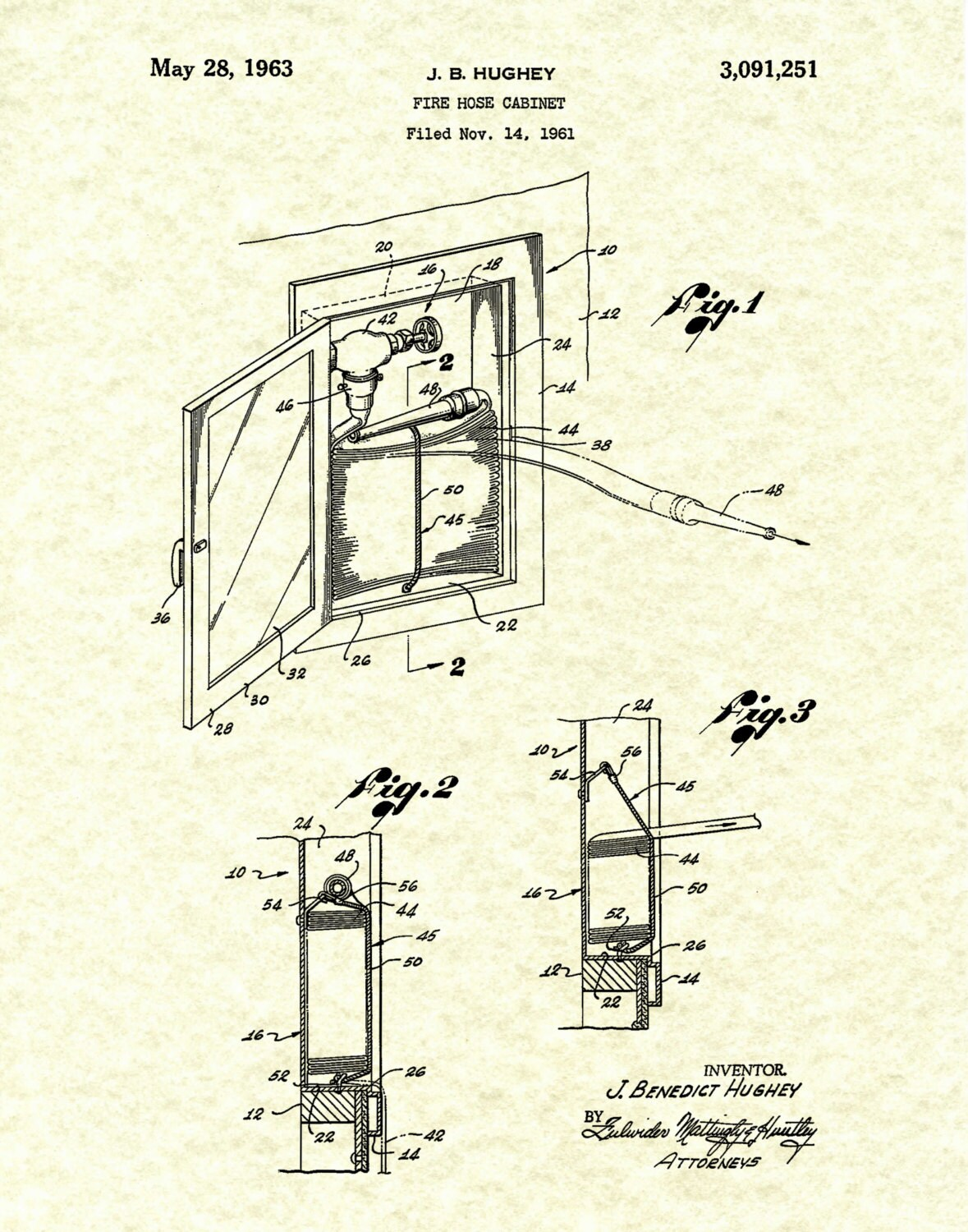 American Fire Hose And Cabinet Patent 1963 Fire Hose Cabinet Art Print Poster Fire House