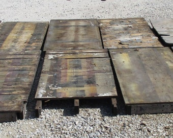 10 Tops Vintage Factory Cart Industrial Age Wood Coffee Table Wheel  Railroad B