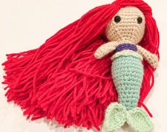 Mermaid, Mermaid doll, Princess Mermaid, Toddler toll, Toddler toy, Amigurumi Mermaid, Toddler gift, Toddler toy, Girl gift