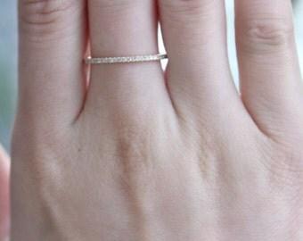 PLATINUM 1.5mm FULL Eternity Band Micro Pave F VS2 0.38ctw Diamond Ring/ Wedding Ring/ Wedding Band/Anniversary Band