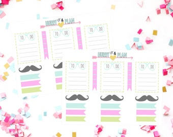 Glasses and Mustache set