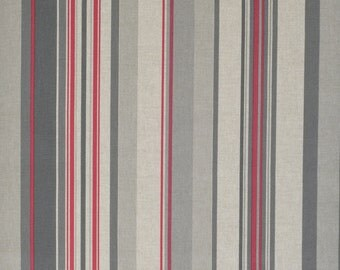 """Home Decor and Upholstery Fabric by the yard Width 110"""" 280 cm Beige Red Taupe Stripes Custom made Drapery Curtains Pillows Bedding TD35"""
