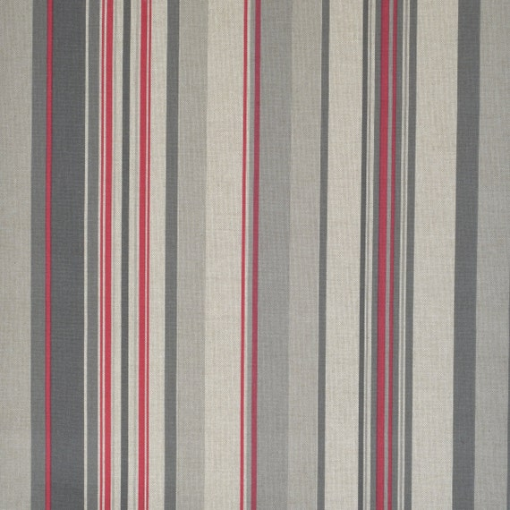 home decor fabric by meter width 110 280 cm beige red taupe stripes