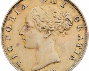 Great Britain Queen Victoria 1858 Half Penny Copper  Coin (1st portrait)
